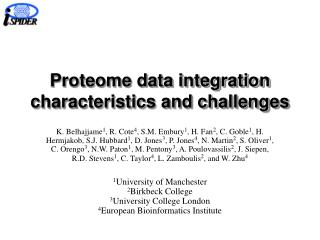 Proteome data integration characteristics and challenges