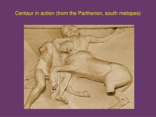 Centaur in action (from the Parthenon, south metopes)