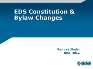 EDS Constitution & Bylaw Changes