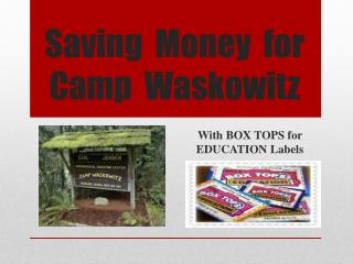 Saving  Money  for Camp   Waskowitz