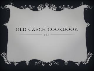 Old czech cookbook