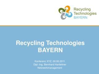 Recycling Technologies BAYERN