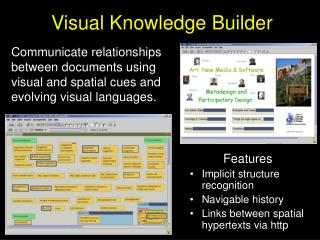Visual Knowledge Builder