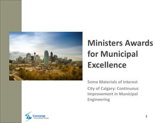 Ministers Awards for Municipal Excellence