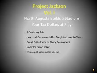 Project Jackson Vol. I