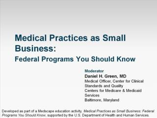 Medical Practices as Small Business: