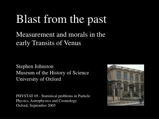 Blast from the past Measurement and morals in the early Transits of Venus