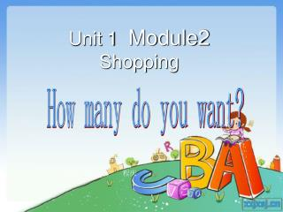 Unit 1   Module2    Shopping