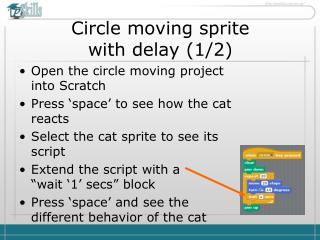 Circle moving sprite  with delay (1/2)
