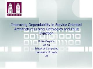 Improving Dependability in Service Oriented Architectures using Ontologies and Fault Injection
