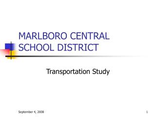 MARLBORO CENTRAL SCHOOL DISTRICT