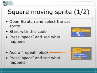 Square moving sprite (1/2)