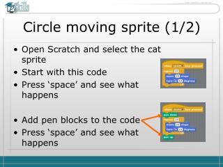 Circle moving sprite (1/2)