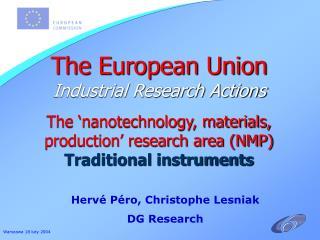 Hervé Péro, Christophe Lesniak DG Research