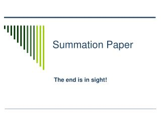 Summation Paper