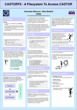 CASTORFS web page -  https :// lbtwiki.cern.ch/bin/view/Online/CastorFS  CASTOR web  site