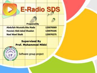 E-Radio SDS