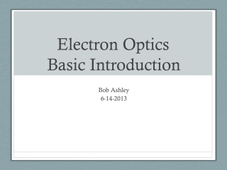 Basic Microscopy         An Overview