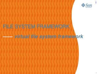 FILE SYSTEM FRAMEWORK ——  virtual file system framework