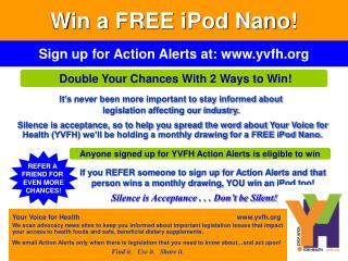 Win a FREE iPod Nano!