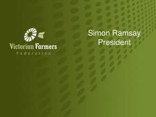 Simon Ramsay  President