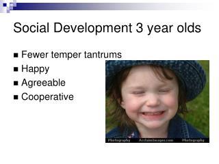 Social Development 3 year olds