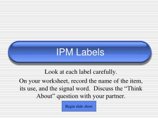 IPM Labels