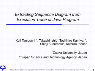Extracting Sequence Diagram from Execution Trace of Java Program