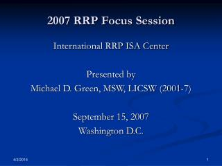 2007 RRP Focus Session