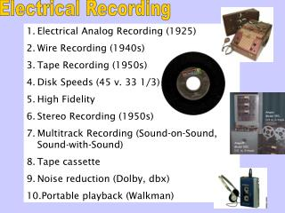 Electrical Recording