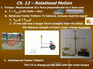 Ch. 12 – Rotational Motion