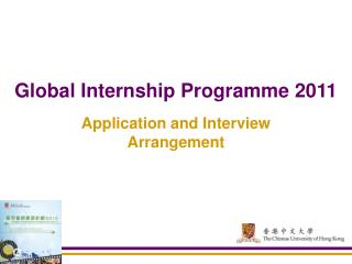 Global Internship Programme 2011