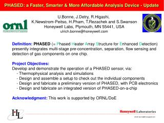 PHASED: a Faster, Smarter & More Affordable Analysis Device - Update