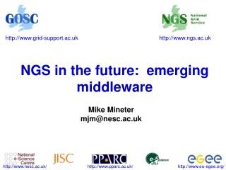 NGS in the future:� emerging middleware