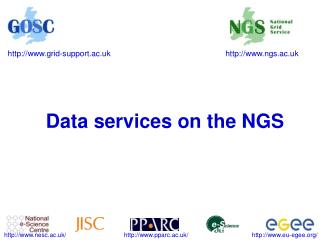 Data services on the NGS