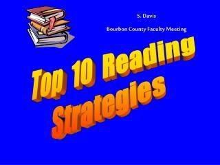 S. Davis Bourbon County Faculty Meeting