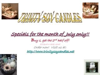TRINITY SOY CANDLES
