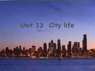 Unit 13  City life