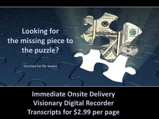 Looking for  the  missing piece to the puzzle ?  Click Here For The Answer