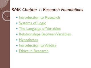 RMK Chapter 1: Research Foundations