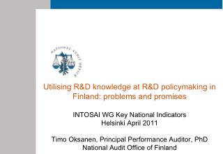 Utilising R&D knowledge at R&D policymaking in Finland: problems and promises