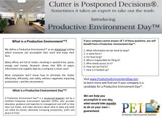 What is a Productive Environment™?