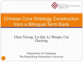 Chinese Core Ontology Construction from a Bilingual Term Bank