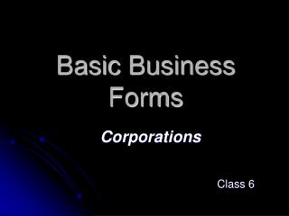 Basic Business Forms