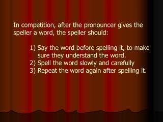 Spelling Bee Rules