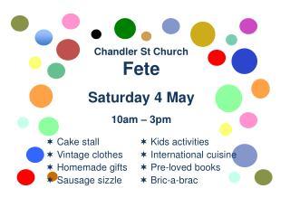 Chandler St Church Fete