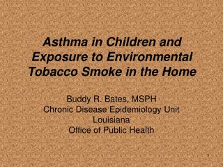 Why is Asthma in Children and ETS Exposure Important?