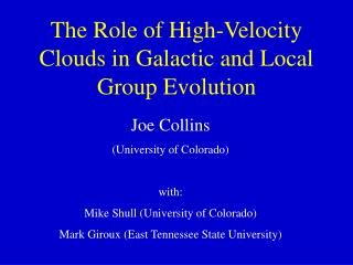 The Role of High-Velocity Clouds in Galactic and Local Group Evolution