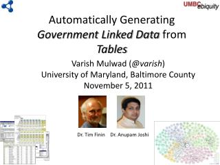 Automatically Generating  Government Linked Data  from  Tables