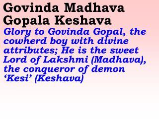 New 691 Govinda Madhava Gopala Keshava(2)